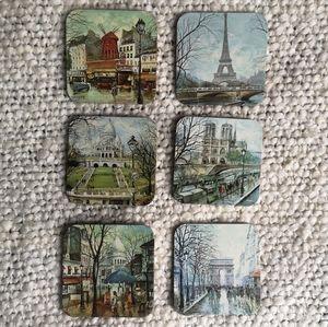 6 Paris coasters